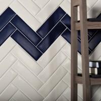 7x24cm 巴西地鐵磚 霧白+藏藍【10色】