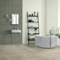 32x90cm 白/灰菱形立體素磚 【主體壁面】