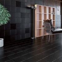 22.5×22.5cm 主題牆面 黑花磚